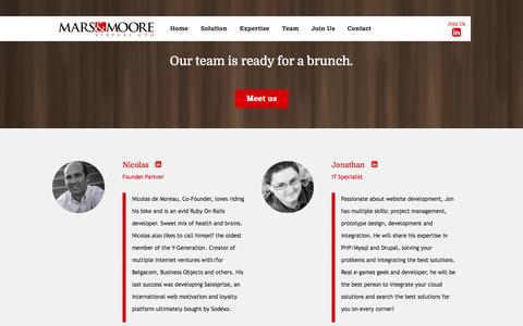 Screenshot of Team Page marsmoore.com - Team | Mars & Moore - captured Oct. 3, 2014