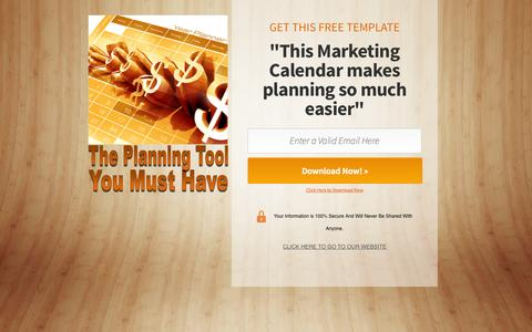 Screenshot of Home Page holisticmarketingmentors.com - Marketing Calendar Template - captured Sept. 30, 2014