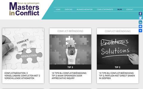 Screenshot of Blog mastersinconflict.nl - Blog - Masters in Conflict - captured Sept. 20, 2018