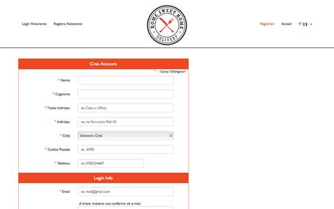 Screenshot of Signup Page hshdelivery.com - HSH Delivery - captured Nov. 6, 2015