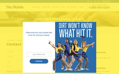 Screenshot of Contact Page maids.com captured Oct. 23, 2017