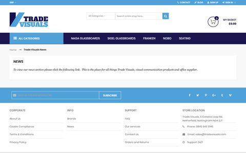 Screenshot of Press Page tradevisuals.com - Trade Visuals News - captured Nov. 16, 2018