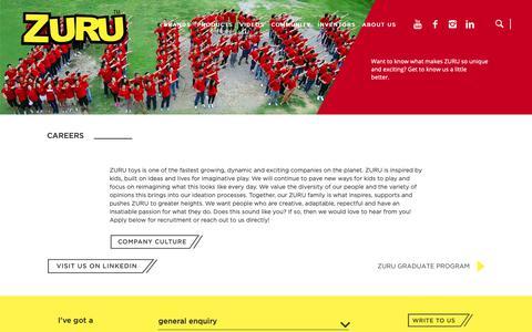 Screenshot of Jobs Page zuru.com - ZURU | Careers | Join Us Today! - captured Oct. 20, 2018