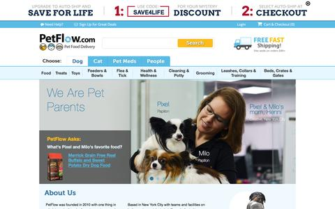 Screenshot of About Page petflow.com - About Us | PetFlow - captured Feb. 4, 2016