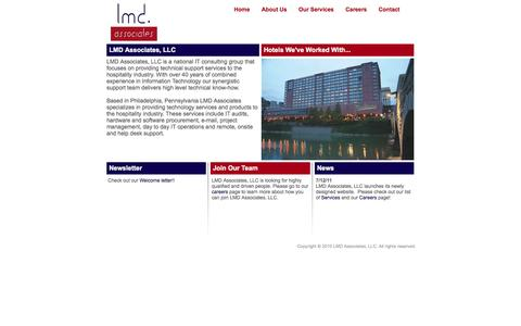 Screenshot of Home Page lmdassociatesllc.com - LMD Associates | IT Support Services for Hotels - captured Sept. 26, 2014