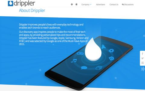 Screenshot of About Page drippler.com - About Us | Drippler - captured Oct. 1, 2015