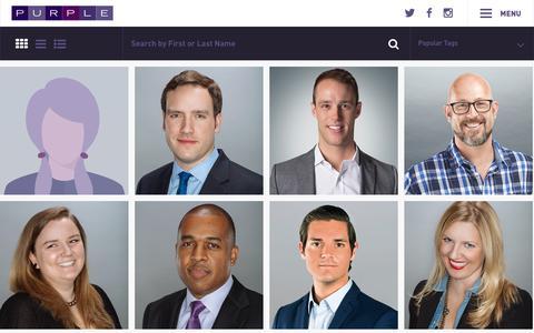 Screenshot of Team Page purplestrategies.com - Purple Strategies – People - captured July 24, 2018