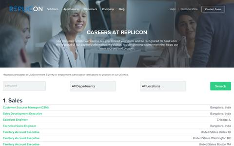 Screenshot of Jobs Page replicon.com - Careers - Search jobs – Replicon - captured May 31, 2017