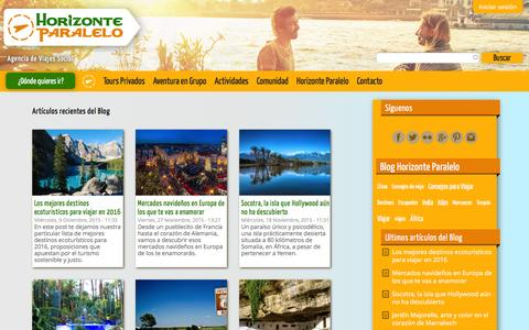 Screenshot of Blog horizonteparalelo.com - Blog de la agencia de viajes Horizonte Paralelo - captured Dec. 11, 2015