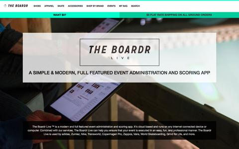Screenshot of Login Page theboardr.com - The Boardr Live: A Live and Instant Scoring App for Actions Sports Events - captured Jan. 11, 2016