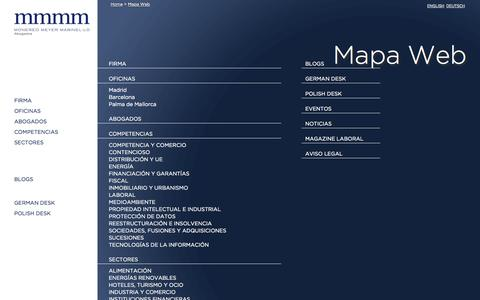 Screenshot of Site Map Page mmmm.es - Monereo Meyer Marinel-lo Abogados | Madrid – Barcelona – Palma de Mallorca - captured Oct. 6, 2014