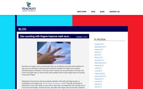 Screenshot of Blog teachley.com - Teachley Analytics | Learning, research, fun - captured Oct. 20, 2017