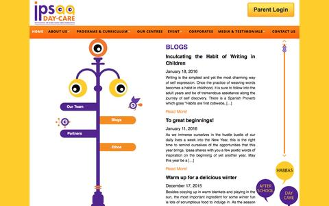 Screenshot of Blog ipsaa.in - Blogs from Best Day Care Center in Gurgaon, Play School in Gurgaon. - captured Jan. 21, 2016