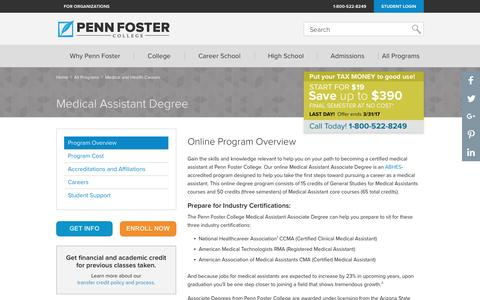 Online Medical Assistant Degree | Penn Foster College