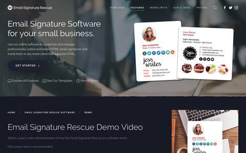 Email Signature Rescue Demo Video