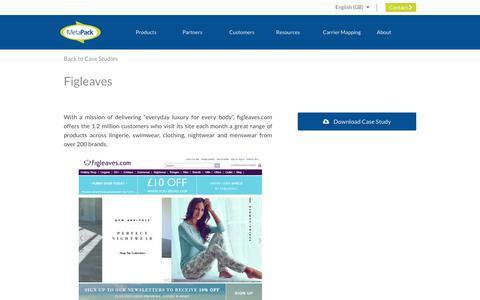 Screenshot of Case Studies Page metapack.com - Figleaves - MetaPack Official | eCommerce Delivery Management Software - captured April 29, 2019