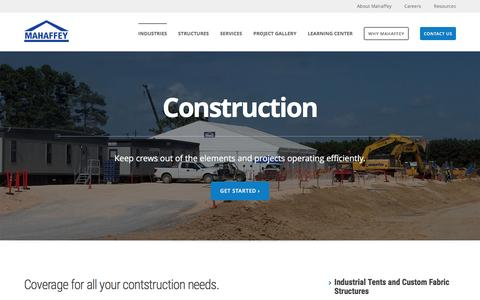 Screenshot of mahaffeyusa.com - Construction - captured March 20, 2016