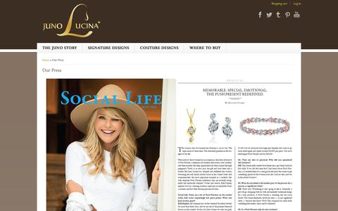 Screenshot of Press Page jlucina.com - Our Press | Juno Lucina - captured Sept. 19, 2014