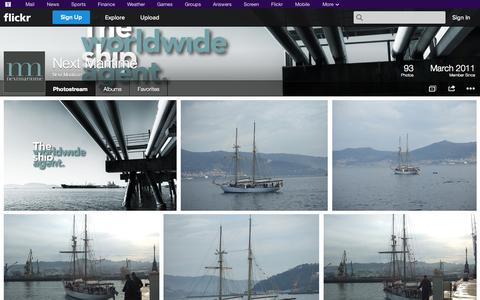Screenshot of Flickr Page flickr.com - Flickr: Next Maritime's Photostream - captured Oct. 26, 2014