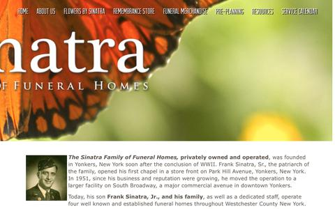 Screenshot of About Page sinatraffh.com - About Us | Sinatra Family of Funeral Homes - captured Sept. 22, 2015