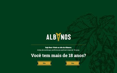 Screenshot of Home Page albanos.com.br - verificação - captured Nov. 28, 2018