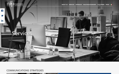 Screenshot of Services Page mgpcomunicazione.it - Services - MGP & Partners : MGP & Partners - captured Sept. 24, 2018