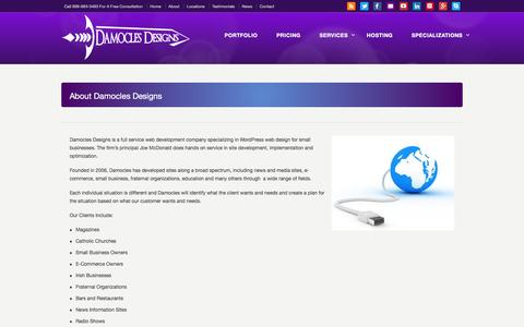 Screenshot of About Page damoclesdesigns.com - About Damocles Designs –  Damocles Designs Web Services and Design- Franklin Square, NY - captured Feb. 21, 2016