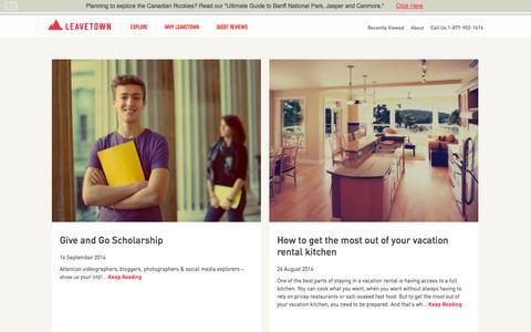 Screenshot of Blog leavetown.com - Blog Articles - captured Nov. 1, 2014