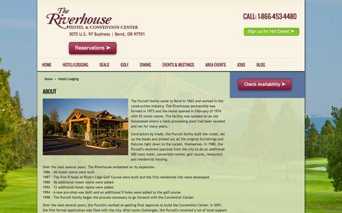 Screenshot of About Page riverhouse.com - Hotel and Golf Resort In Bend Oregon - captured Feb. 28, 2016