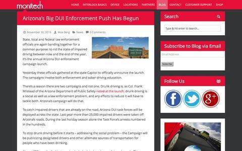 Screenshot of Blog monitechnc.com - Interlock NC Blog - MonitechMonitech | Ignition Interlock Systems - captured Dec. 3, 2016
