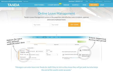 Leave Management Software | Online Employee Leave System | Tanda