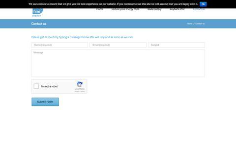 Screenshot of Contact Page fineenergy.co.uk - Contact us – Fine Energy - captured June 6, 2017