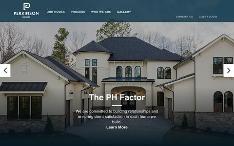 Screenshot of Home Page perkinsonhomes.com - Custom Home Builders Richmond VA, Perkinson Homes, Inc. - captured July 28, 2017