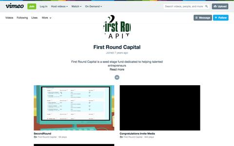 First Round Capital on Vimeo