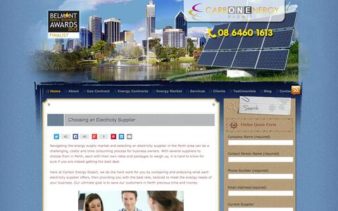 Screenshot of Home Page carbonenergy.net.au - For Cheaper Energy Electricity Gas Suppliers Providers in Perth   Carbon Energy Expert - captured Oct. 1, 2014