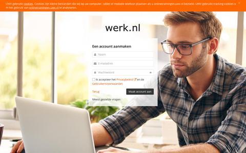 Screenshot of Signup Page uwv.nl - Een account aanmaken | UWV - captured Oct. 21, 2018