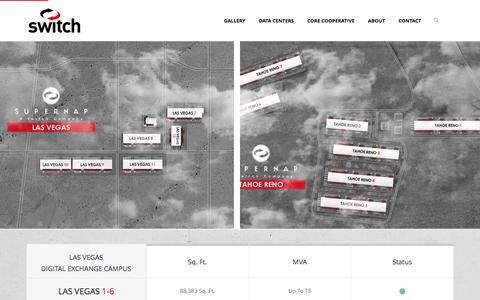 Screenshot of Contact Page Locations Page supernap.com - Locations - SUPERNAP - captured Feb. 22, 2016