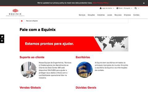 Screenshot of Contact Page equinix.com.br - Fale com a Equinix – Informações de contato global da Equinix - captured June 30, 2018