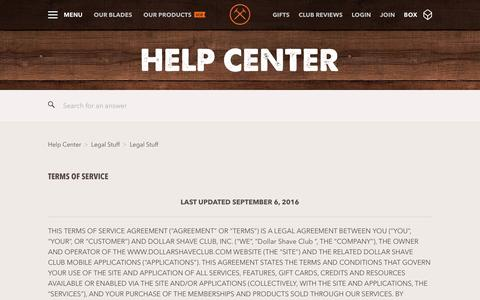 Terms of Service  – Dollar Shave Club