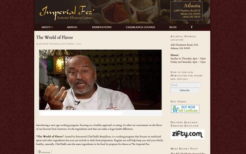 Screenshot of Blog imperialfez.com - Imperial Fez | Authentic Moroccan Restaurant | Authentic Moroccan Restaurant - captured Oct. 6, 2014