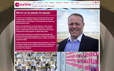 Screenshot of About Page curtins.com - About Us - Curtins Consulting - captured Sept. 30, 2014