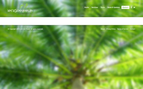 Screenshot of Contact Page letsgotravel.in - Contact - Let's Go TravelLet's Go Travel - captured Jan. 28, 2016