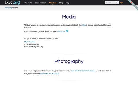 Screenshot of Press Page akvo.org - Media   Akvo.org - captured Sept. 13, 2014