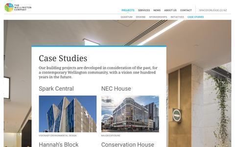 Screenshot of Case Studies Page thewellingtoncompany.co.nz - Case Studies - The Wellington Company - captured Dec. 2, 2016