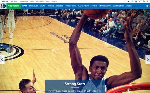 Screenshot of Home Page mavs.com - Home - Official Website of the Dallas Mavericks - captured Oct. 7, 2015
