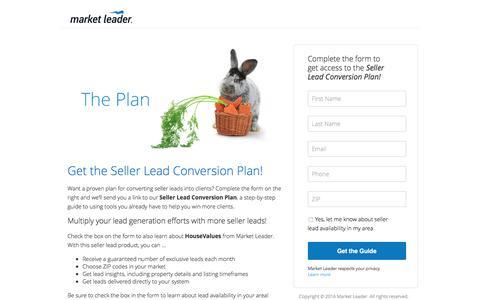 Screenshot of Landing Page marketleader.com - Download Market Leader's Seller Lead Conversion Plan - captured Aug. 18, 2016