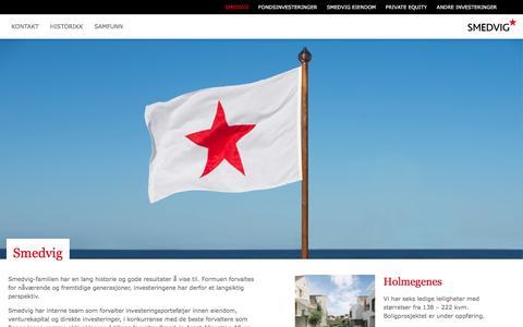 Screenshot of Home Page smedvig.no - Smedvig - captured Feb. 27, 2016