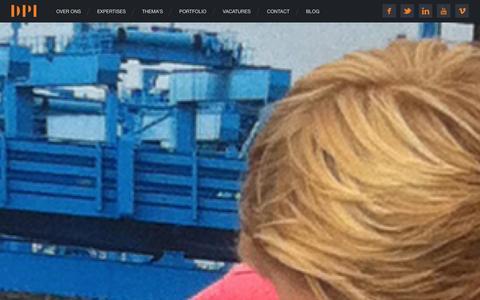 Screenshot of Home Page dpi.nl - Home | DPI - captured Oct. 5, 2014