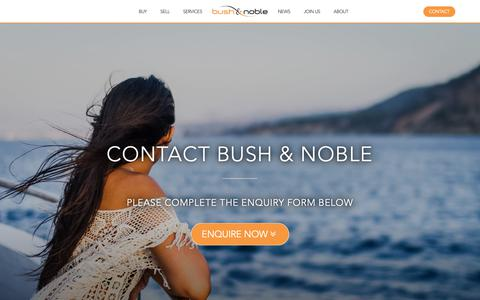 Screenshot of Contact Page bushandnoble.com - Contact Bush & Noble International Yacht Brokerage - captured Oct. 7, 2018