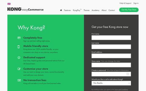 Screenshot of Signup Page trykong.com - Kong | Signup - captured June 27, 2016